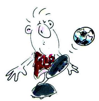 lustiger Fussballer