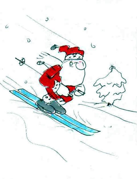 Dieser Weihnachtsmann genießt noch die Vorweihnachtszeit