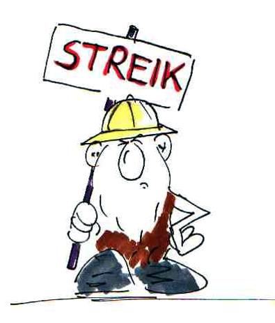 Streik Cartoon