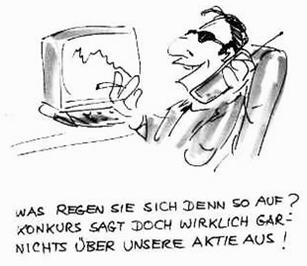 Aktien Beratung Cartoon