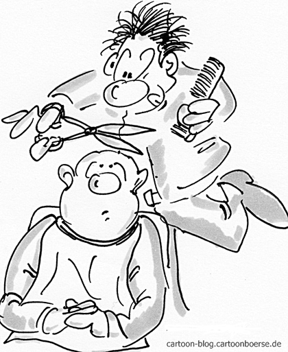 cartoon friseur