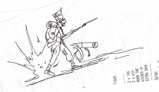 Soldat, Frankreich, lange her